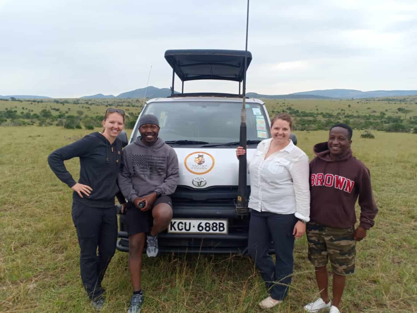happy jossec clients on a safari
